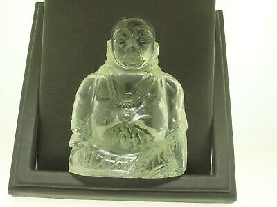 "Antique Chinese Carved Polished Rock Crystal Buddha Statue - 3 1/2"" H - B.offer!"