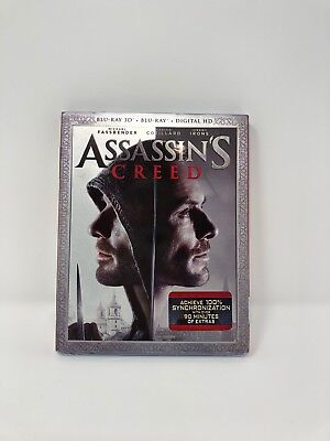 Assassin's Creed (Blu-Ray + DVD + Digital HD) New and Sealed