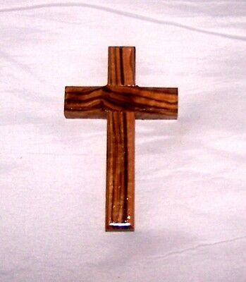 Ancient Holy Land Israel Olive Wood Wall Cross Jerusalem Christ Jesus Crusade KT
