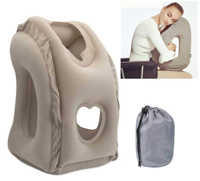 Inflatable Travel Pillow Best Fun Most Comfortable Deep Sleep Airplanes Car Neck