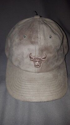 online store 0f58e 0bc42 Mitchell   Ness Nba Chicago Bulls Mens Tan Micro Suede Strapback Dad Hat Cap