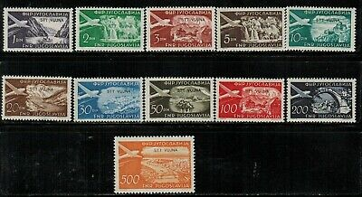 Yugoslavia Trieste Issues #C22-31 Complete Set 1954 MH