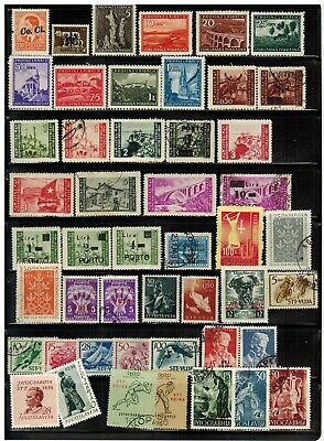 Lot of Yugoslavia Ljubljana & Trieste Issues Old Stamps Used/MH
