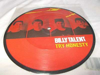 """Billy Talent - Try Honesty / When I Was A Little Girl - Uk 7"""" Pic/Disc Vinyl"""