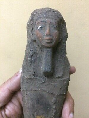 EGYPTIAN STATUE ANTIQUE PTAH Gods Ushabti MUMMY CARVED STONE EGYPT #985 BC