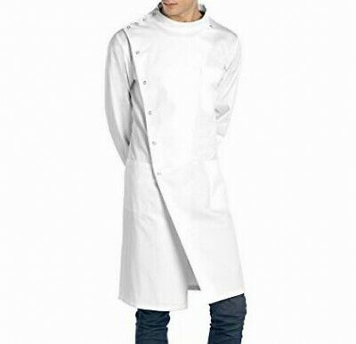 Doctor James NEW White Unisex Size Medium M Button-Down Solid Lab Coat #503