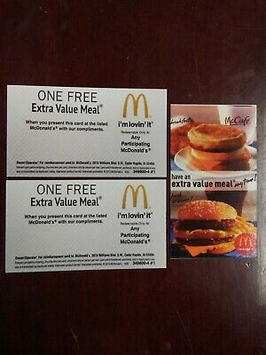 50 McDonald's Combo Meal Vouchers! No Expiration!!!!