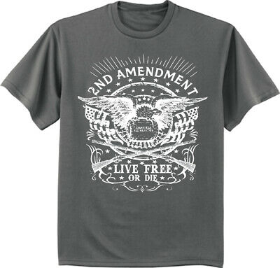 Sale: 3XLT - Big and Tall Tee 2nd Amendment Live Free or Die Eagle Guns T-shirt
