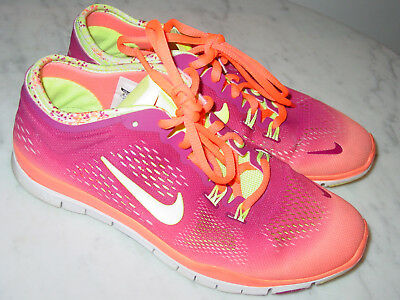 19e944452ecb4 NIKE FREE 5.0 TR Fit Teal/White/Yellow Womens Running Shoes Size 6.5 ...