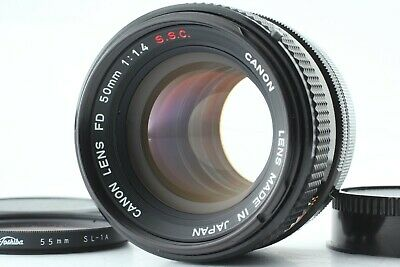 【NEAR MINT+++】 Canon FD 50mm f/1.4 S.S.C Lens From japan