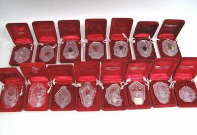 LOT of (12) WATERFORD CRYSTAL 12 DAYS OF CHRISTMAS ANNUAL ORNAMENTS + 3 MISC