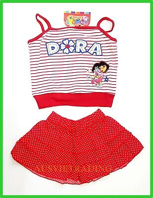 BNWT Dora embroidered top ruffle skirt 2pc girls oufit set New party beach
