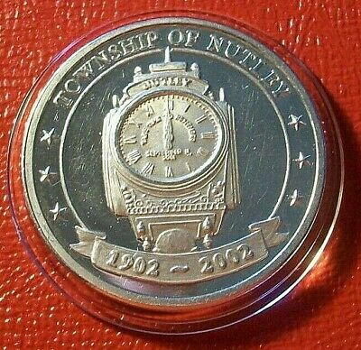 "Township of Nutley,NJ ""100 Year Celebration Art Round"" 1 Troy oz.999 Fine Silver"