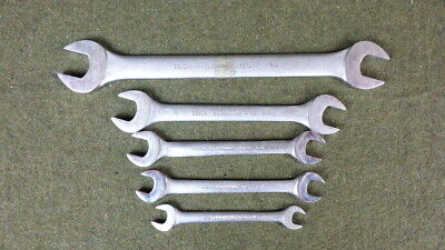 Blackhawk Lot Of 5 Open End Dual Wrenches(15/16-7/16)