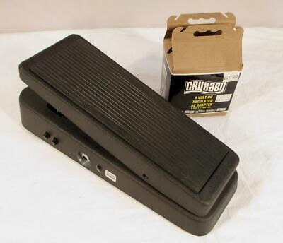 Dunlop 95Q Cry Baby Wah Wah Guitar Effects Pedal w/ 9 Volt Adapter Works