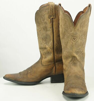 37a1a582d96 ARIAT 15729 HERITAGE Women's Western Cowboy Distressed Tan Leather Boots  8.5 B