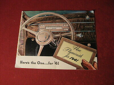 1941 Plymouth Showroom Sales Dealership Brochure Original Old Vintage Catalog