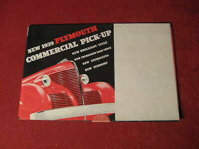 1939 Plymouth Truck Wagon Showroom Sales Dealer Brochure Original Old Catalog