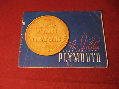 1938 Plymouth Dealership Showroom Sales Dealer Brochure Original Old Catalog
