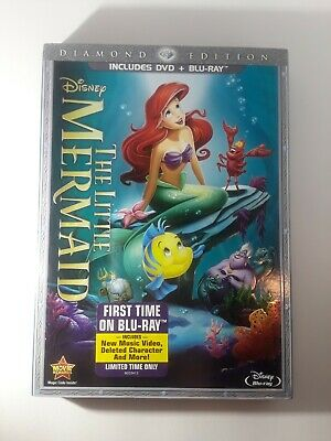 The Little Mermaid (Blu-ray/DVD, 2013, 2-Disc Set, Diamond Edition DVD/Blu-ray)