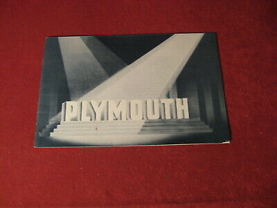1936 Plymouth Dealership Showroom Sales Dealer Brochure Original Old Catalog