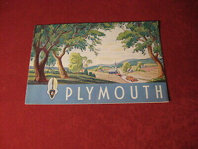 1935 Plymouth Dealership Showroom Sales Dealer Brochure Original Old Catalog