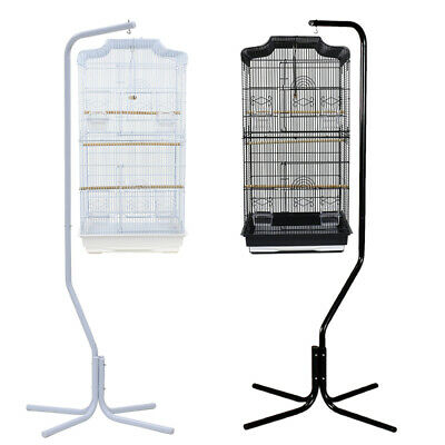 167cm Bird Cage Hanger Stand Iron Tube Frame Parrot Aviary Canary 4 Leg Support