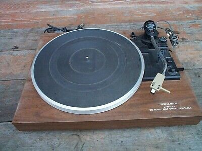 Vtg Realistic Lab 270 Turntable Record Player Parts Unit Pioneer Cartridge