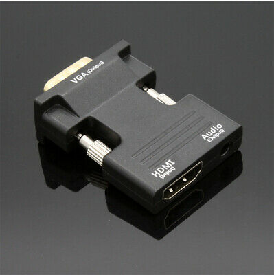 HDMI Female to VGA Male Adapter Converter with Audio Cable Support 1080P Output