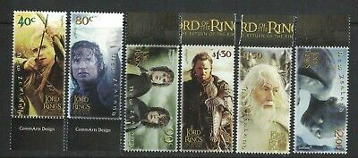2003 New Zealand Lord of Rings SG 2652/57 Set 6 MUH