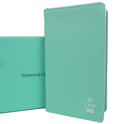Auth Tiffany & Co. Logos Leather 2018 Daily Planner Address Book F/S 797