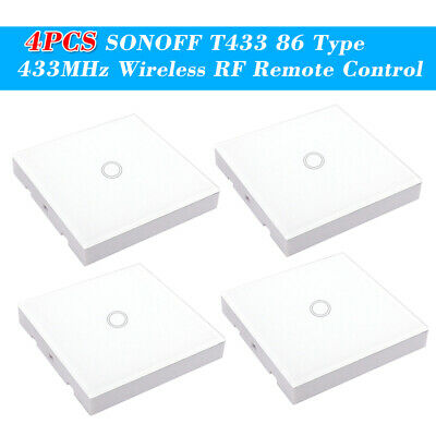 4PCS SONOFF T433 86 Type Luxury Wall Touch Panel Sticky 433MHz Wireless RF L2W4
