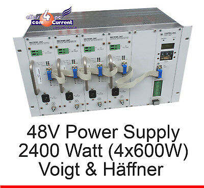 48 Volt 2400 Watt 4x 600w Power Supply Voigt and Haeffner Dslam Vuh Ups