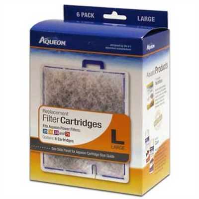 Aqueon 06088 Filter Cartridge Large 6-Pack New Free Shipping