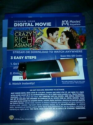Crazy Rich Asians HD Digital code