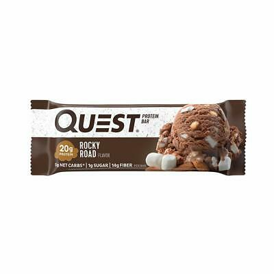 Quest Nutrition Rocky Road Protein Bar, High Protein, Low Carb, Gluten Free, Soy