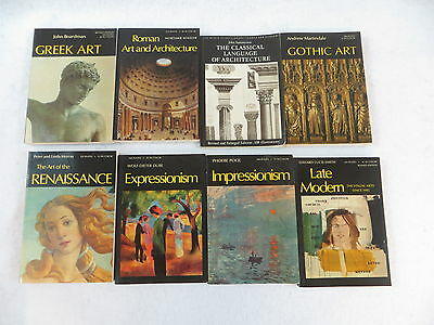 Lot of 8 THE WORLD OF ART Oxford Greek Roman Gothic Renaissance Impressionism
