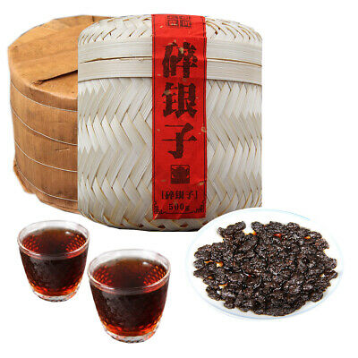 Yunnan Ripe Pu-erh Tea 500g Cooked Puerh Tea Handmade Bamboo Basket Packing Gift