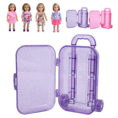18 inch Lovely Doll Travel Train Suitcase Luggage Case Doll House Play Toys