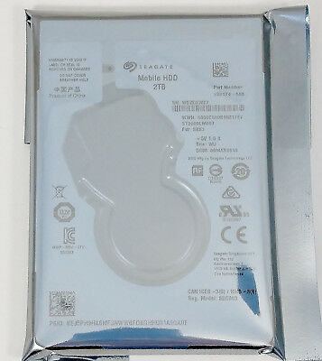 """Seagate Mobile ST2000LM007 2 TB 2.5"""" SATA 6Gb/s Laptop PS4  Hard Drive Thin 7mm"""