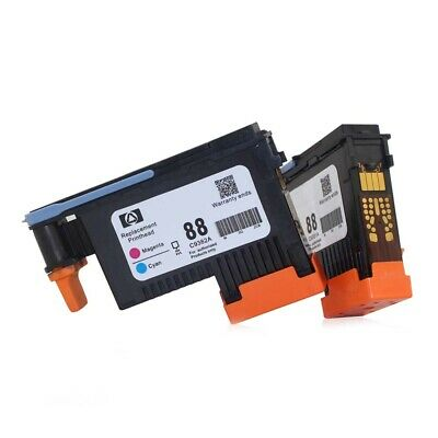 2x Printhead Black Mage For HP 88 C9382A PRO K550 K8600 K8500 K5300 K5400 L7380