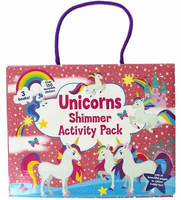 Unicorns Shimmer Activity Pack Colouring Sticker Books Kids Artist Pack Fun 3101