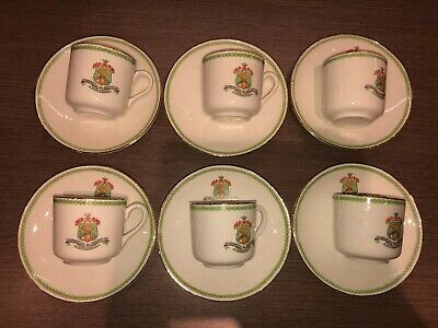 Co-operative Wholesale Society Grindley Coffee Cans And Saucers X 6