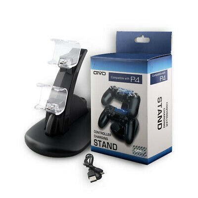 For Sony Playstation4 PS4/Slim/PS4 Pro Dual USB Charger Charging Dock Docking