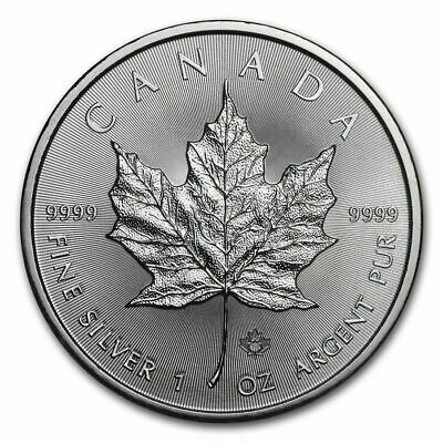 Canada - $5 Dollars 2019 - Maple Leaf 1 once argent silver .999 1 oz