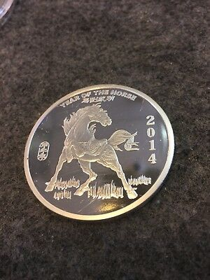 2014 Year Of The Horse Chinese Zodiac 1/2 Troy Oz .999 Silver Round Coin (CM)