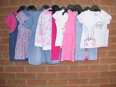 NEXT PEPPA PIG H&M GAP etc Girls Summer Bundle Dresses Tops Jeans Age 18-24m