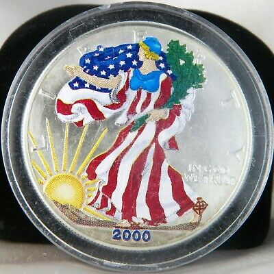 2000 American Silver Eagle Dollar $1 Painted Lady Liberty Uncirculated