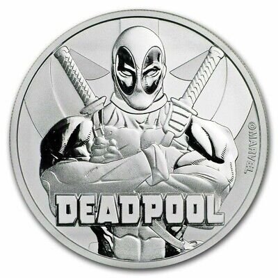 TUVALU $1 Dollar 2018 MARVEL DEADPOOL Hero Perth Mint 1 oz silver coin