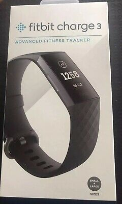 PAY ONLY 166 $ New Fitbit Charge 3 Black Fitness Tracker